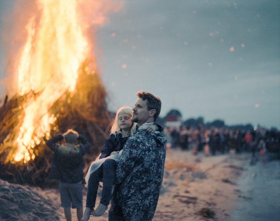 Mid summer even (Sankt Hans) in Denmark. Taken with Pentax 6x7 + 105mm f2.4 with Cinestill 800 film